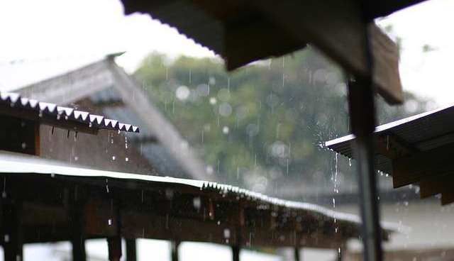 roof with rain